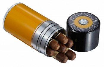 Joe 7 Cigar Travel Humidor Black And Yellow