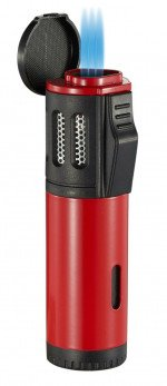 Artemis Triple Flame Torch Lighter Red