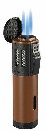 Artemis Triple Torch Flame Lighter Brown