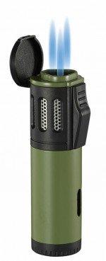 Artemis Triple Torch Flame Lighter Green