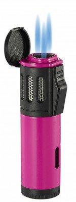 Artemis Triple Torch Flame Lighter Pink