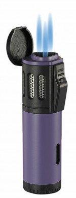 Artemis Triple Torch Flame Lighter Purple