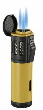Artemis Triple Torch Flame Lighter Yellow