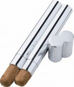 Bacuit Stainless Steel Dual Cigar Case
