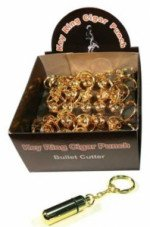 Bullet Cutter Key Chain - Display Box of 24 - (Gold)
