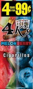 Good Times Cigarillos 4 Kings Melon Berry