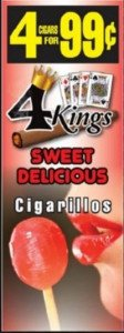 Good Times Cigarillos 4 Kings Sweet Delicious