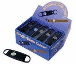 Guillotine Cutter Display Box of 24 - Single Blade (Black Plastic)