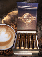 The House of Lucky Cigar Cafeina Box Press Dark Roast In Crystal