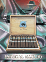 The House of Lucky Cigar Especial Maduro Gigante Box Press