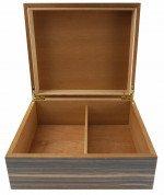 Visol Vernazza Zebrawood PVC Veneer Desktop Humidor - Up to 25 Cigars