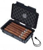 Visol Wyatt Hard Plastic Travel Cigar Humidor